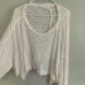 Free people torn up sweater pullover